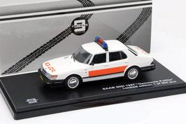 Saab 900i Sedan Phase II 1987-1991 Gemeente Politie Culemborg NL weiss / orange