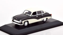 Wartburg 311 Limousine Phase II 1959-1965 schwarz / weiss
