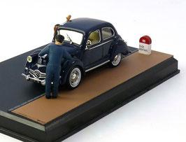 Panhard Dyna X Berline 1945-1954 blau Diorama Route Bleue