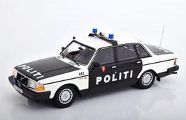 """Volvo 240 GL Limousine 1984-1993 """"Politi Norwegen weiss / schwarz"""""""