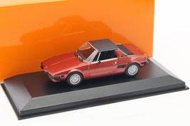 Fiat X1/9 Phase I 1972-1982 rot met. / schwarz