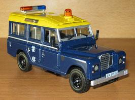 Land Rover 110 Long 1983-1990 Hong Kong Police dunkelblau / gelb