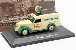 "Fiat 1100 ELR Liferwagen ""Galbani 1951 hellgelb / dunkelgrün"