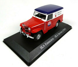 "IKA Estanciera/Jeep Willys Station Wagon ""IKA Service 1965"" rot / blau / weiss"