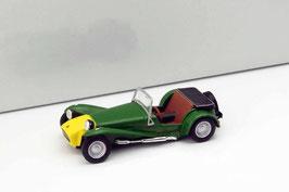 Lotus Seven Roadster Phase II 1960-1968 dunkelgrün / gelb