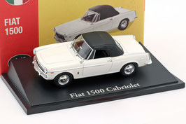 Fiat 1500 Spider 1963-1966 weiss / Soft Top schwarz geschlossen