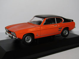 Ford Capri MK I 1600 GT XLR 1971 orange  / schwarz RHD