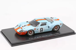 "Ford GT 40 #9 Winner 24h LeMans 1968 ""Gulf"" Rodriguez / Bianchi hellblau / orange"
