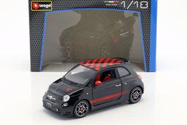 Fiat Abarth 500 2008-2013 schwarz / rot