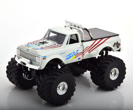 Chevrolet K-10 Pick Up 1970 Monster Truck weiss / schwarz / Decor