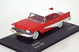 Plymouth Savoy 1957-1959 rot / weiss