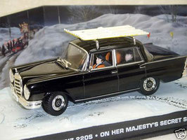 Mercedes-Benz 220 S 1959-1965 schwarz James Bond 007 Edition On Herr Majesty's ...