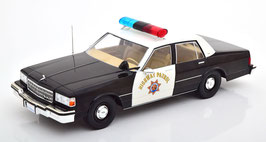 """Chevrolet Caprice III Phase II 1982-1987 """"California Highway Patrol schwarz / weiss"""""""