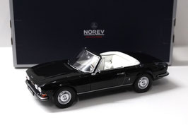 Peugeot 504 Cabriolet Phase I 1969-1974 schwarz / Softtop weiss