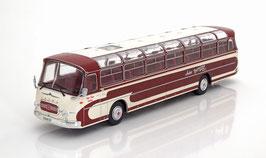 """Kässbohrer-Setra S14 Reisecar 1961 Anker Busreisen Lüneburg"""" dunkelrot / weiss"""