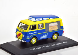 "Alfa Romeo Romeo Lieferwagen 1954-1966 ""La Cambali 1955 blau / gelb / Decor"""