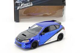 """Subaru Impreza WRX STi 2007-2012 """"Fast and Furious Brain"""" blau met. / schwarz / weiss"""