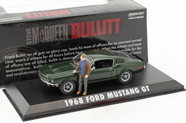 "Ford Mustang GT 1968 ""Film Bullitt 1968"" dunkelgrün met. mit Figur Steve McQueen"