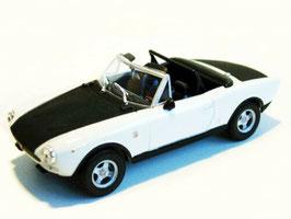Fiat 124 Abarth Spider 1972-1974 weiss / matt-schwarz