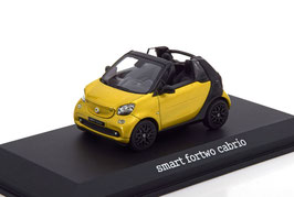 Smart fortow Cabriolet A453 seit 2016 gelb met. / schwarz
