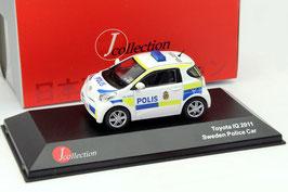 "Toyota IQ 2008-2014 ""Polis Sweden 2011"" weiss / gelb / blau"