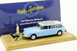 "Citroën ID 19 Break 1958-1969 hellblau / weiss ""Vétérinaire"" / Diorama"