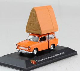 Trabant 601 Universal 1965-1988 orange mit Dachzelt braun