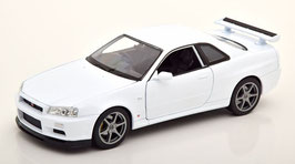 Nissan Skyline GT-R R34 1999-2003 weiss