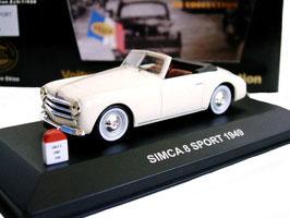 Simca 8 Sport Roadster Pininfarina 1948-1952 creme
