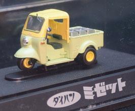 Daihatsu Midget DX Dreirad Pick Up 1957-1959 hellgrün / gelb