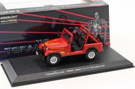"Jeep CJ-7 Renegade 1983 ""Film Terminator 1984"" rot / Decor"