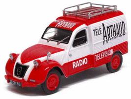 """Citroën 2CV Camionette 1955-1960 """"Télé Arthoud rot / weiss"""""""