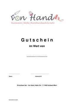 Gutschein - Allgemein