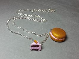 Kette mit Macaron/Tortenstück