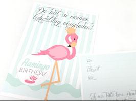 Flamingo-Einladung