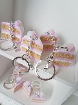 Erdbeer-Sahne-Torten Schlüsselanhänger