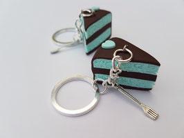 Schokoladen-Pefferminz-Torten Schlüsselanhänger
