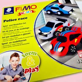 Police Race I Spiel- und Modellierset