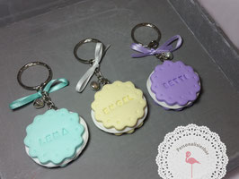 Schlüsselanhänger mit Cookie/Schleifchen