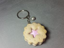 Keks-Schlüsselanhänger/Stern und Glöckchen