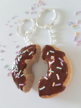 Best friends Donut-Schlüsselanhänger