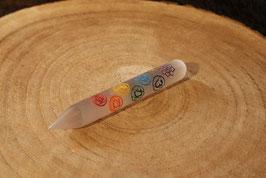 Seleniet 7-chakra massage staaf 15 cm