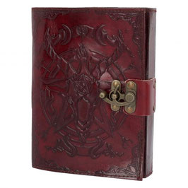 Baphomet leather journal . b