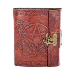 Pentagram leather journal . pb