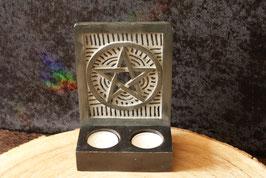 Waxine lichthouder Pentagram.