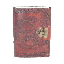 Pentagram Kelt  leather journal . pk