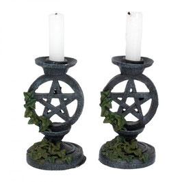 Wiccan Pantagram Candlesstick holder.