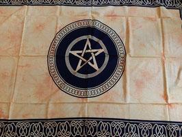 Wandkleed (tapestry) pentagram geel.