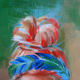 "Women painting ""Gerda"" 15 x 15 cm (5,9 x 5,9 inches)"