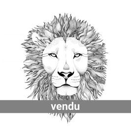 Le Lion n°23 - 60x60 cm
